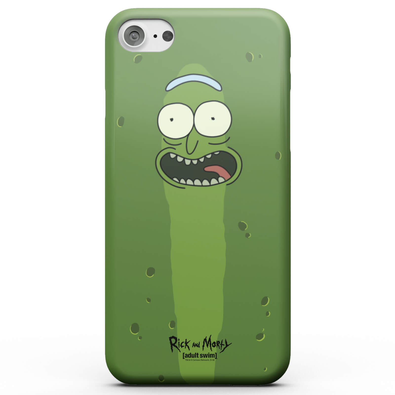 Funda Móvil Rick y Morty Pickle Rick para iPhone y Android - iPhone 7 Plus - Carcasa rígida - Mate de Rick and Morty