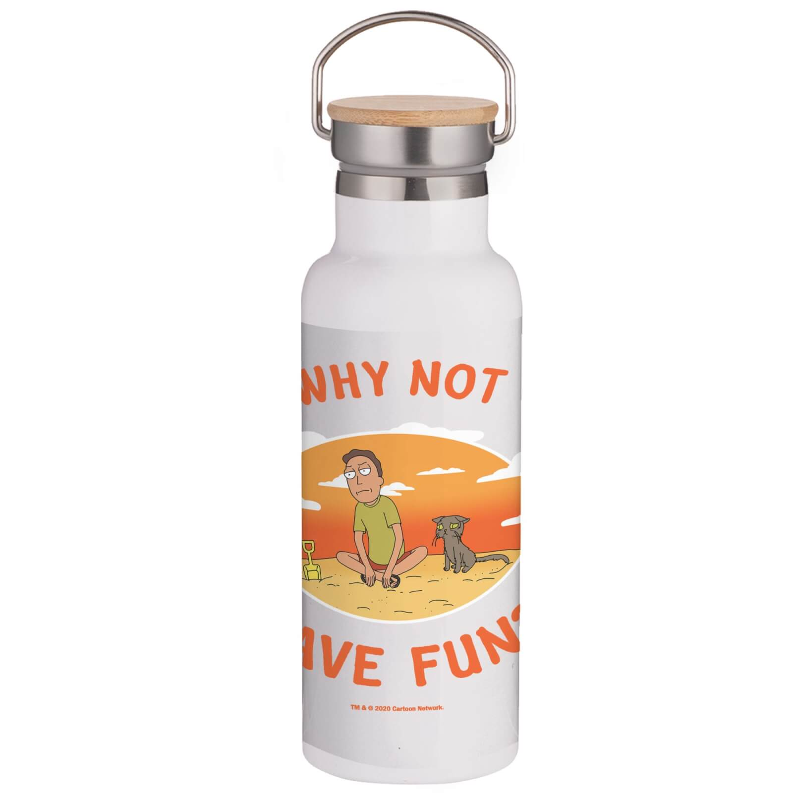 Rick & Morty Why Not Have Fun? Portable Insulated Water Bottle - White de Rick and Morty