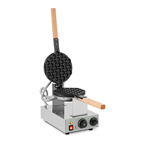 Royal Catering Gofrera con Base de Burbujas Bubble Waffle Maker RCWM-1400-B (1.415 W, Acero inoxidable y Aluminio, Temperatura 50-250 °C) de Royal Catering