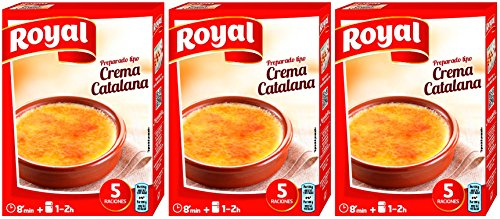 Royal preparado para Crema Catalana 120 gr. - [Pack de 3] de Royal