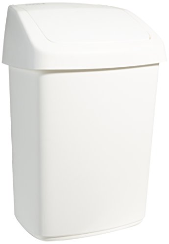 Rubbermaid R000877 - Papelera, capacidad de 25 l, blanco de Rubbermaid