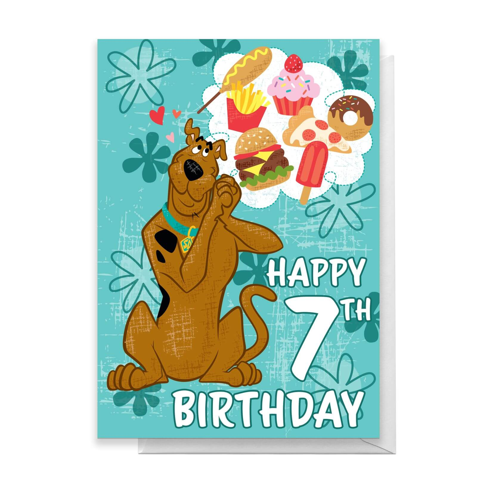 Scooby Doo 7th Birthday Greetings Card - Standard Card de Scooby Doo