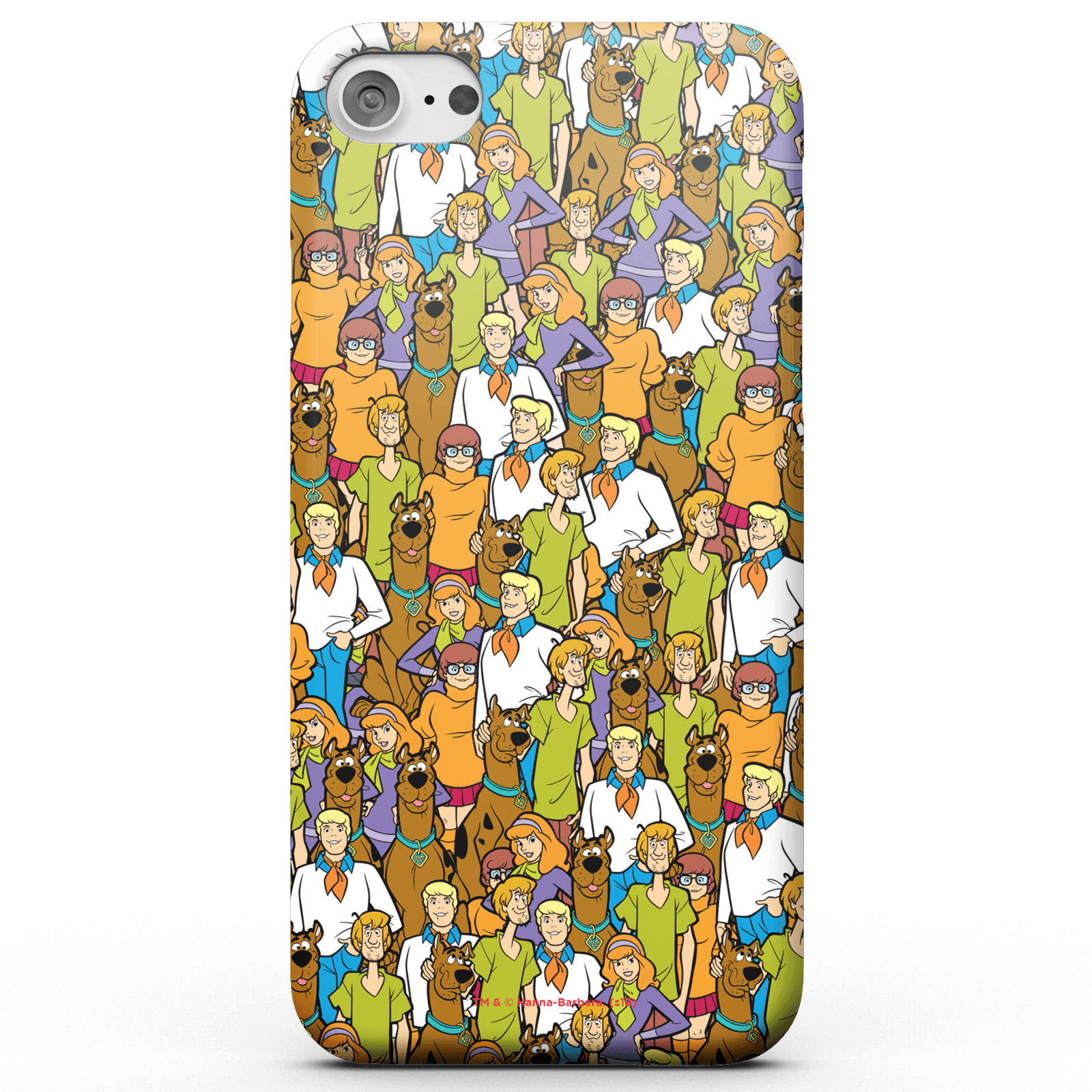 Funda Móvil Scooby-Doo Character Pattern para iPhone y Android - iPhone XR - Carcasa rígida - Mate de Scooby Doo