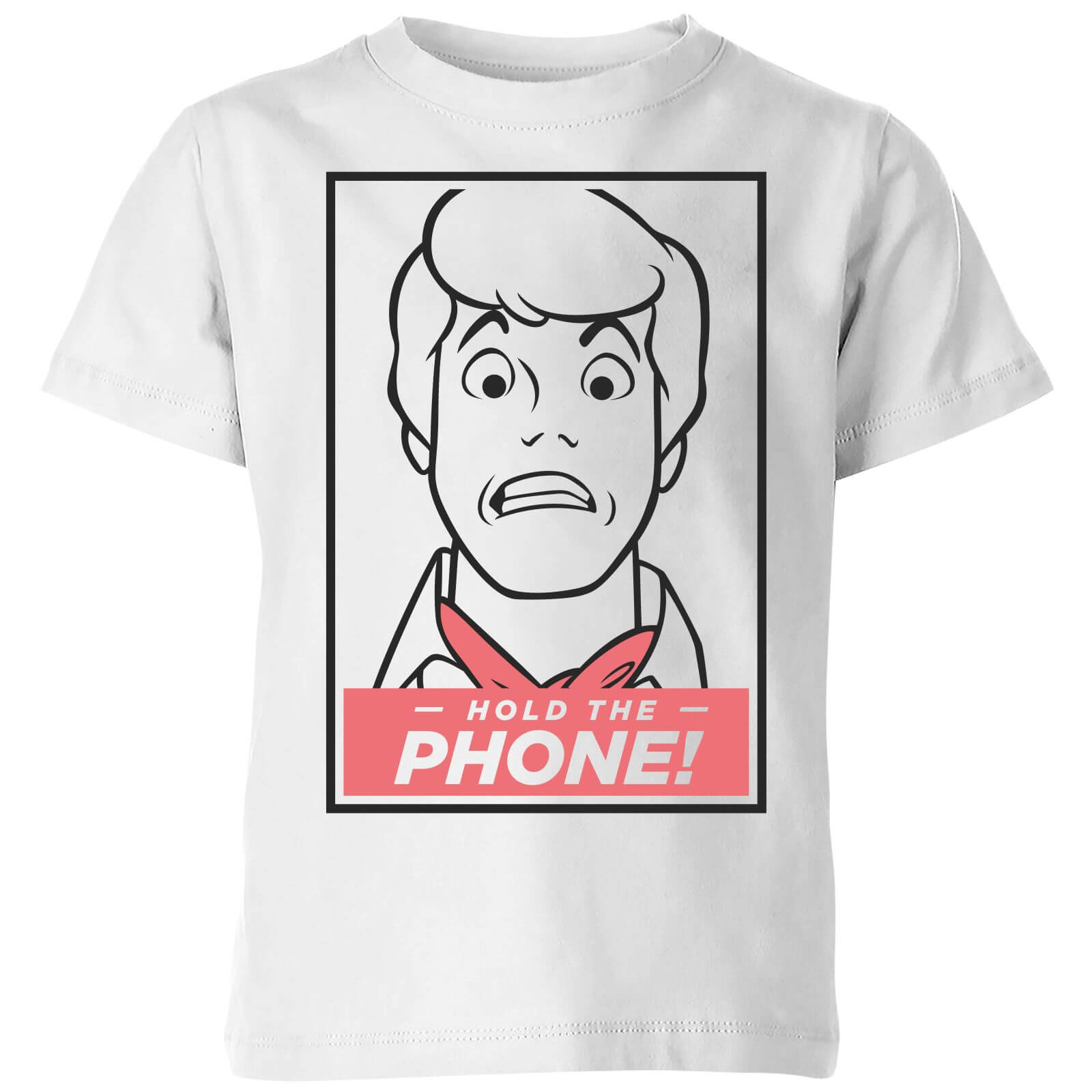 Scooby Doo Hold The Phone Kids' T-Shirt - White - 11-12 años - Blanco de Scooby Doo