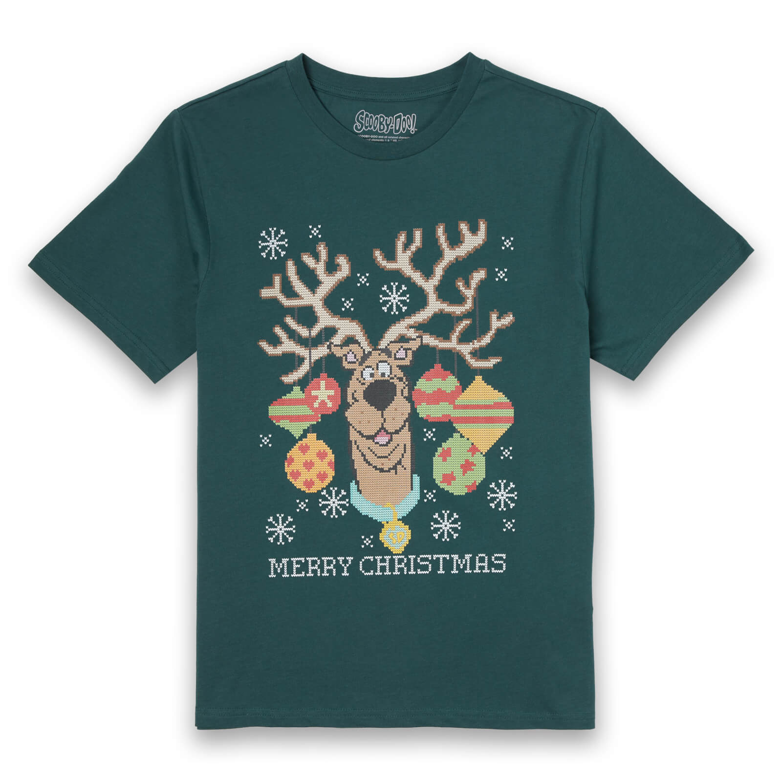Scooby Doo Men's Christmas T-Shirt - Forest Green - XXL - Forest Green de Scooby Doo