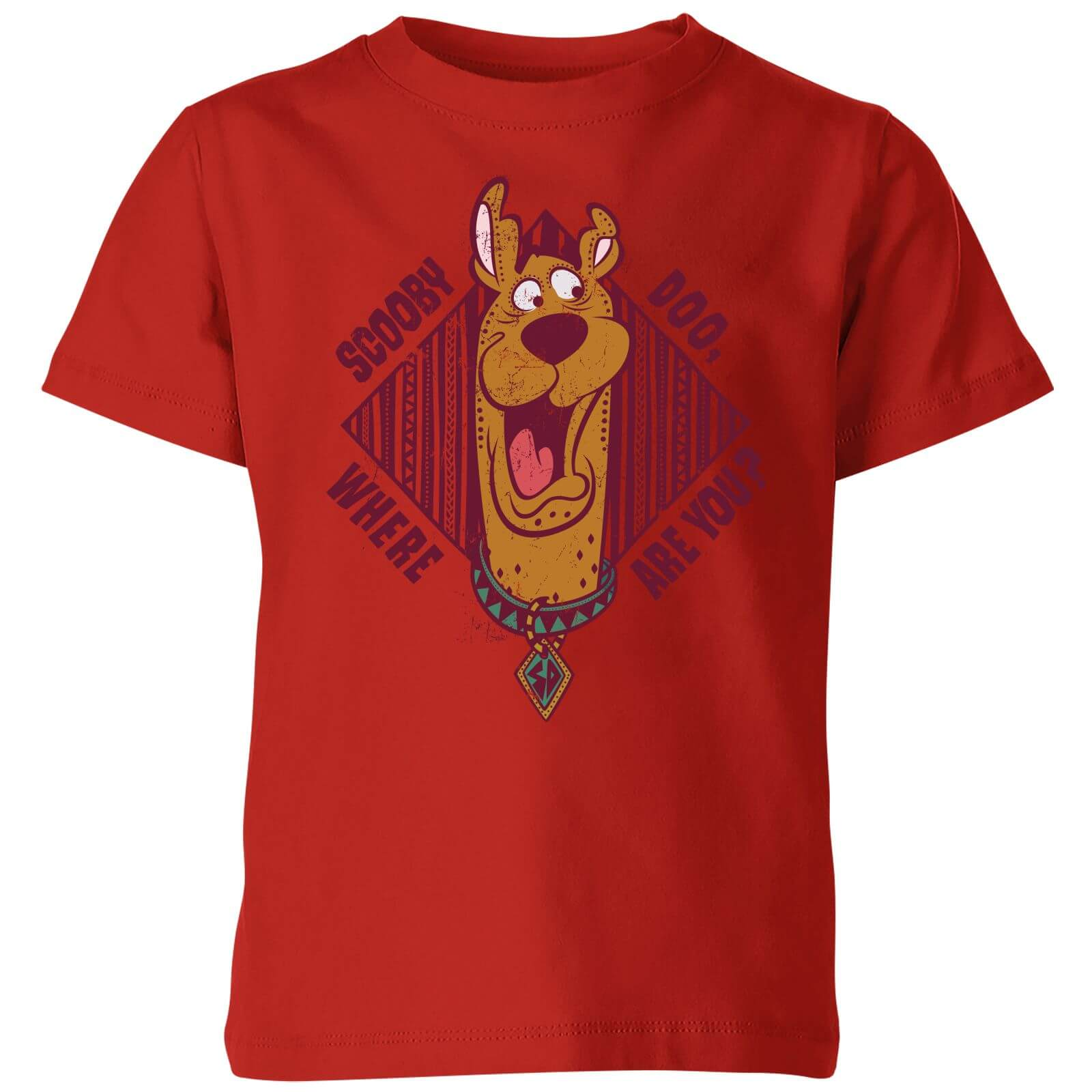 Scooby Doo Where Are You? Kids' T-Shirt - Red - 3-4 años - Rojo de Scooby Doo