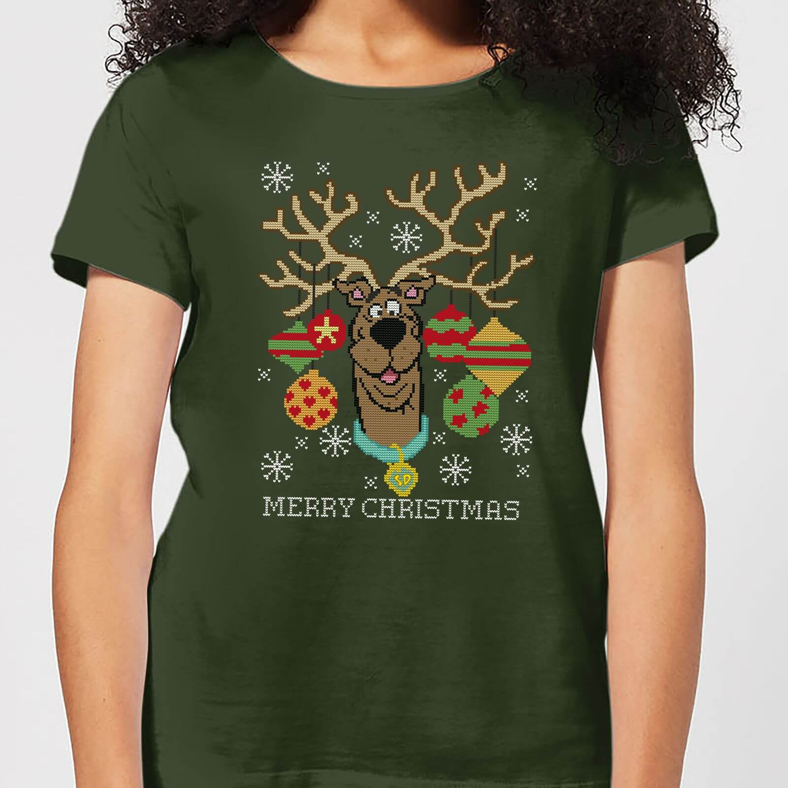 Scooby Doo Women's Christmas T-Shirt - Forest Green - M - Forest Green de Scooby Doo