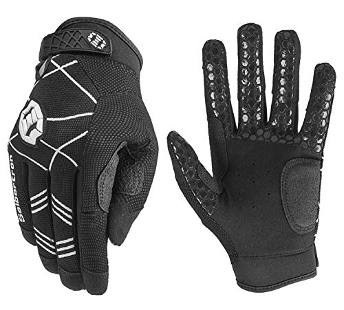 Seibertron B-A-R Pro 2.0 Signature Baseball/Softball Batting Gloves Guantes de bateo de béisbol Super Grip Finger Fit For Adult Negro M de Seibertron