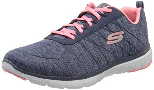 Skechers Women's FLEX APPEAL 3.0-INSIDERS Trainers, Blue (Navy Mesh/Coral Trim Nvcl), 6 UK 39 EU de Skechers