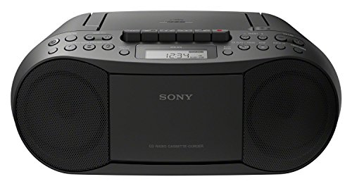 Sony CFD-70 - Reproductor Boombox (FM/AM, Casete, CD), Color Negro de Sony