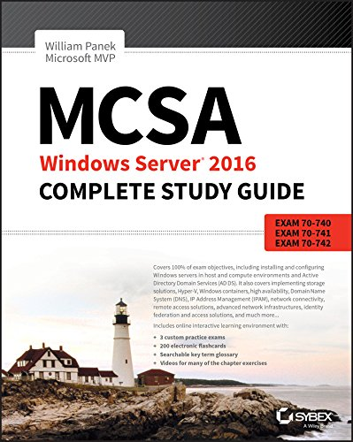 MCSA Windows Server 2016 Complete Study Guide: Exam 70-740, Exam 70-741, Exam 70-742, and Exam 70-743 de John Wiley & Sons Inc