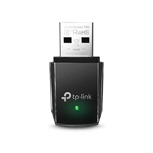TP-LINK Archer t3u Adaptador USB Tarjeta de Red, Wireless Dual-Band 1300mbps, GHz & GHz, Mini tamaño de TP-Link