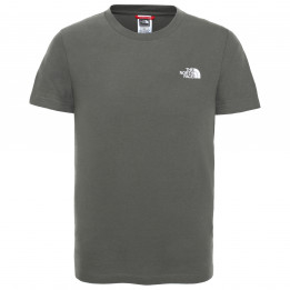 The North Face - Youth S/S Simple Dome Tee - Camiseta de manga corta size S, gris/oliva de The North Face
