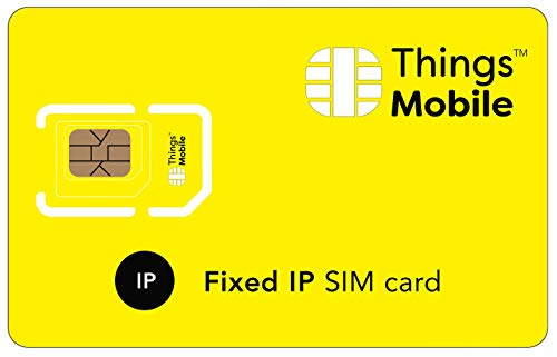 TARJETA SIM con IP ESTÁTICA para IOT y M2M - Things Mobile - con cobertura global, red multi-operador GSM/2G/3G/4G LTE, sin costes fijos, sin vencimiento, con 10 € de crédito incluido de Things Mobile
