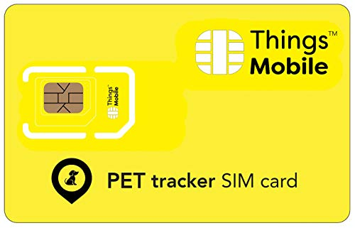 SIM Card para Pet GPS Tracker – Things Mueble – con Cobertura Global y Red Multi-operatore GSM/2G/3G/4G LTE, Sin costes fijos, Sin caducidad y tarifas aéreas competitivas, Sin crédito Incluido de Things Mobile