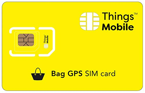 Tarjeta SIM para TRACKER / LOCALIZADOR GPS de MALETAS Things Mobile - con cobertura global y red multioperador GSM/2G/3G/4G, sin costes fijos, sin vencimiento. 10 € de crédito incluido de Things Mobile