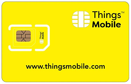 Tarjeta SIM sin COSTES FIJOS - Things Mobile - con cobertura global y red multioperador GSM/2G/3G/4G, sin vencimiento y con tarifas competitivas. 10 € de crédito incluido de Things Mobile