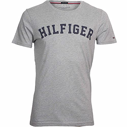 Tommy Hilfiger UM0UM00054, Camiseta Para Hombre, Gris (Grey Heather 004), Medium de Tommy Hilfiger