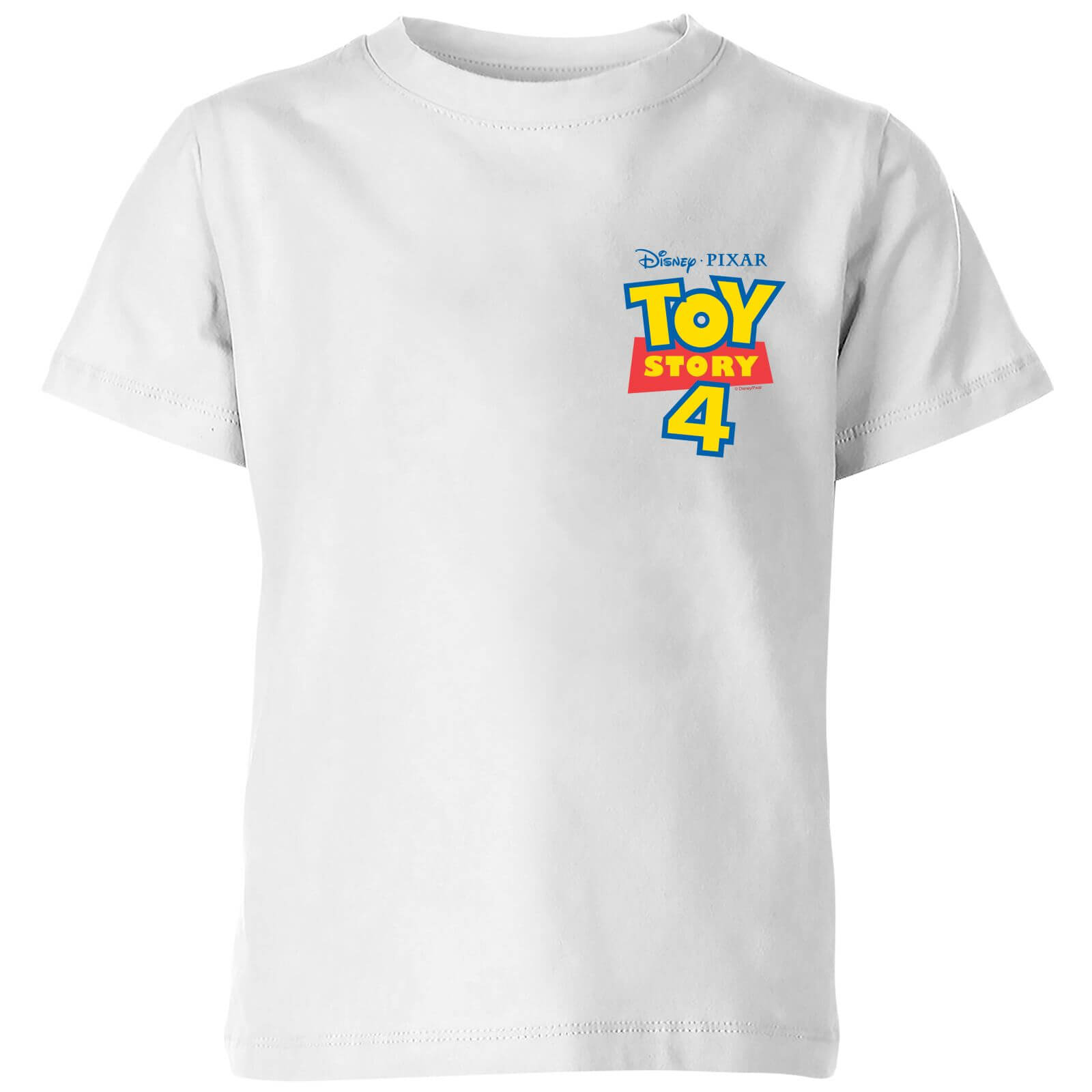 Toy Story 4 Pocket Logo Kids' T-Shirt - White - 9-10 años - Blanco de Pixar