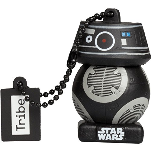 Tribe Star Wars 8 Pendrive - Memoria USB Flash Drive 2.0, de Goma, de 16 GB con Llavero, diseño First Order BB Unit de Tribe