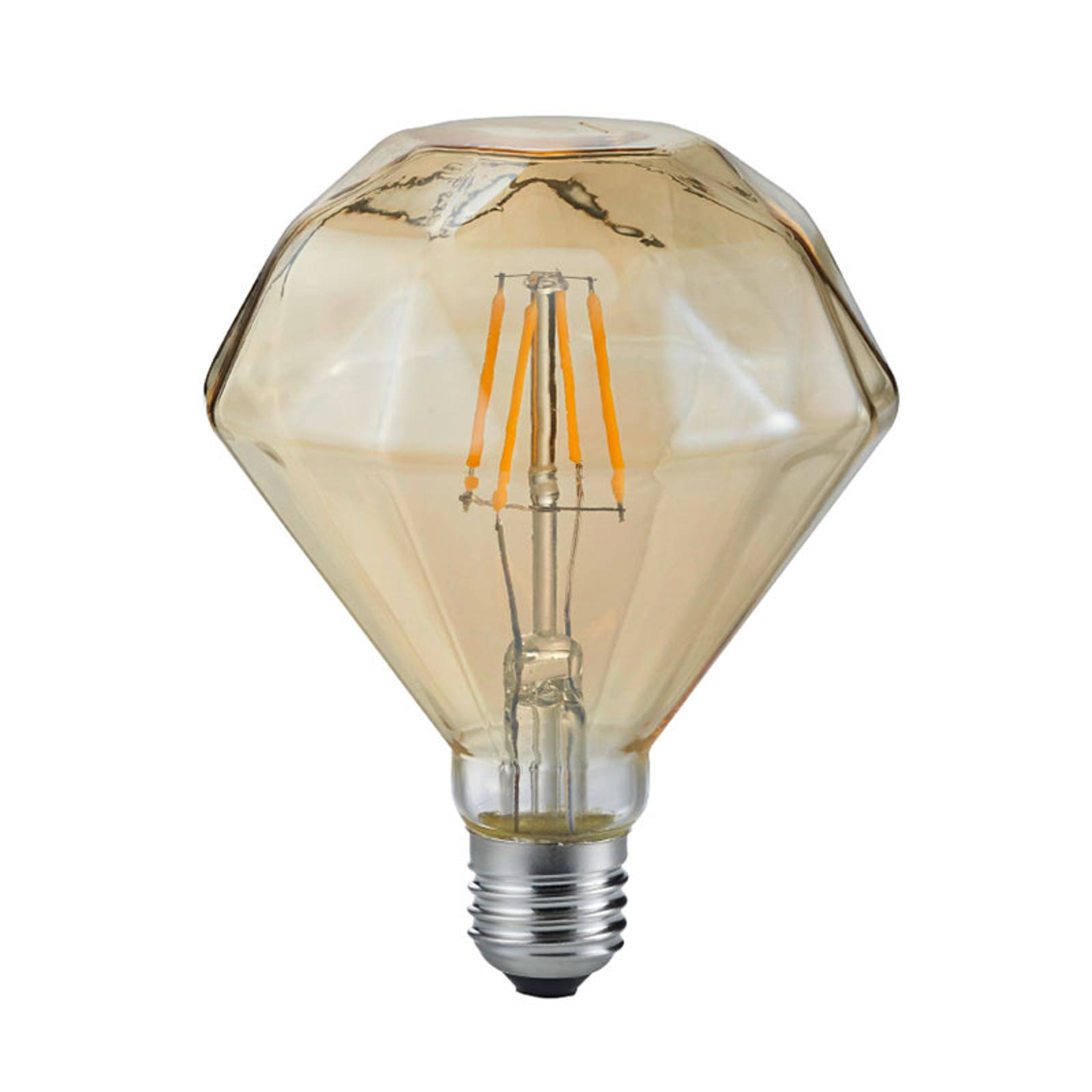 Bombilla LED E27 4W 2.700K Diamant Filament ámbar de Trio Lighting
