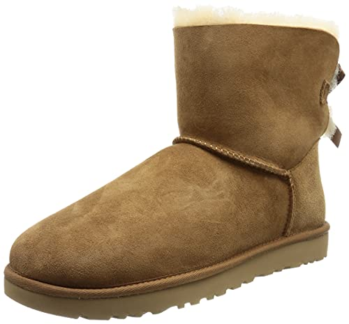 UGG Female Mini Bailey Bow II Classic Boot, Chestnut, 37 EU de UGG