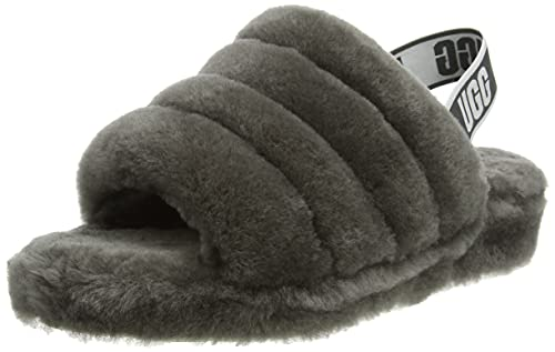 UGG Female Fluff Yeah Slide Slipper, Charcoal, 5 (UK) de UGG