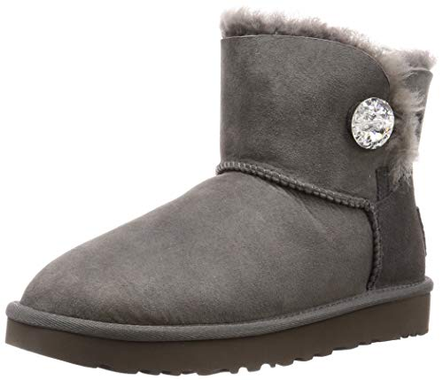 UGG Mini Bailey Button Bling, Botas Mujer, Gris, 37 EU de UGG