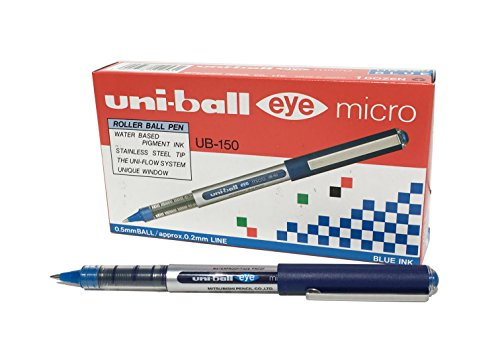 Uni-ball UB-150 - Eye Micro, 12 unidades, Azul de Uni-Ball