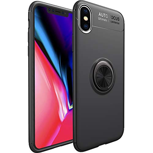 5e21632cd33 WATACHE Funda iPhone XS MAX, Slim Fit Funda Resistente de TPU con Soporte  de Metal