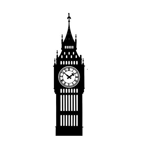 Pegatina De Pared, Big Ben Building Carving Hollow Sticker Home Bedroom Living Room Decoration Student Dormitory Beautification Removable Wall Sticker de WZ YDTH