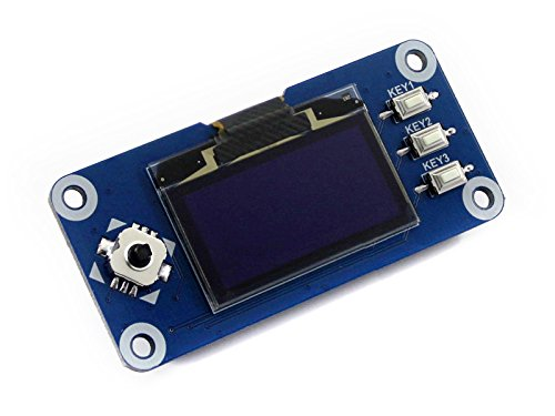 Waveshare 1.3inch OLED Display Hat 128x64 Pixels 4-Wire SPI 3-Wire SPI I2C Interface Embedded Controller Direct-pluggable for Raspberry Pi 2B/3B/Zero/Zero W with Examples de Waveshare