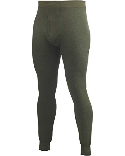 Woolpower 400 Long Johns with Fly Men, Pine Green Talla L 2019 Ropa Interior de Woolpower