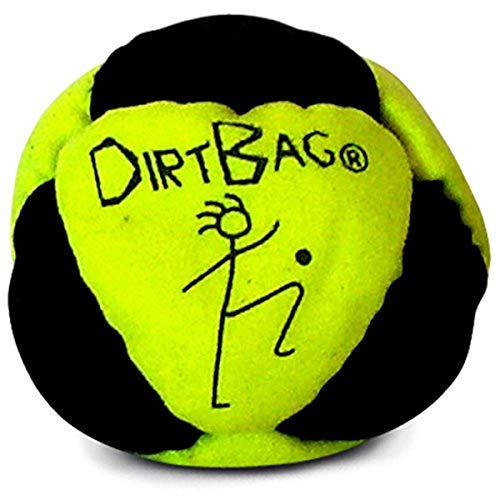 World Footbag World Footbag Dirtbag Hacky Sack, Neon Yellow/Black de World Footbag