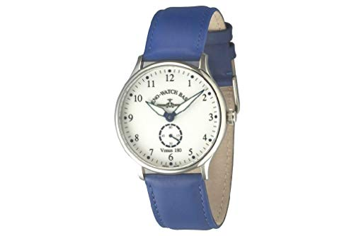 Zeno-Watch Reloj Hombre - Flatline Venus 180 White+Blue - Limited Edition - 6682-6-i24 de Zeno