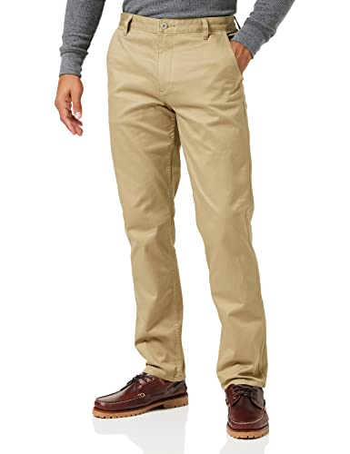 dockers Alpha Original Slim Tapered-Stretch Twill Pantalones, Marrón (New British Khaki 0432), 40W / 34L para Hombre de dockers