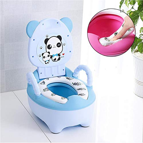 Asiento De Entrenamiento Para Inodoro Baby Potty Portable Plastic Child Potty Blue de qunxun